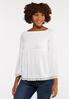 Plus Size Smocked Off The Shoulder Top alt view