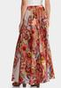 Plus Size Floral Wide Sweep Maxi Skirt alternate view