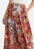 Plus Size Floral Wide Sweep Maxi Skirt alt view