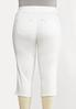 Plus Size Cropped White Skinny Jeans alternate view