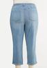 Plus Size Cropped Boyfriend Jeans alternate view