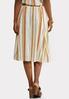 Plus Size Linen Stripe Button Front Skirt alternate view
