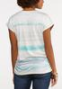 Muted Ruched Stripe Tee alternate view