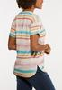 Plus Size Stripe Lace Shoulder Tee alternate view