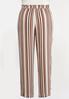 Plus Size Gauzy Tie Waist Stripe Pants alternate view