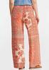 Coral Floral Patchwork Pants alternate view