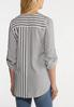 Knotted Gray Stripe Top alternate view
