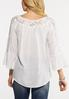 Plus Size Lacy White Crepe Top alternate view