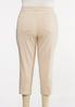 Plus Size Neutral Stripe Ankle Jeans alternate view
