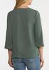 Plus Size Button Sleeve Woven Top alternate view
