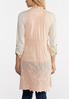 Plus Size Embroidered Blush Vest alternate view