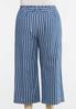 Plus Size Denim Stripe Pants alternate view