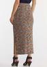 Plus Size Ribbed Midi Pencil Skirt alternate view