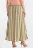 Plus Size Printed Stripe Maxi Skirt alternate view