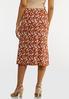 Rust Floral Skirt alternate view