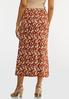 Plus Size Rust Floral Skirt alternate view