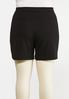 Plus Size Black Sailor Shorts alternate view