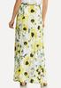 Plus Size Floral Pleated Skirt alternate view