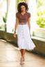 Plus Size Eyelet Button Midi Skirt alt view