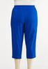 Plus Size Lattice Hem Cropped Pants alternate view