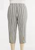Plus Size Striped Cropped Pants alternate view