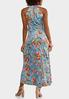 Pleated Blue Floral Dress alternate view