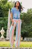 Plus Size Citrus Stripe Linen Pants alt view