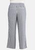 Plus Size Stripe Linen Beach Pants alternate view