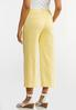 Solid Cropped Sateen Pants alternate view