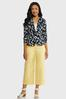 Solid Cropped Sateen Pants alt view