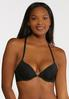 Plus Size Black White Racerback Bra Set alternate view