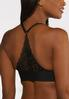 Plus Size Black White Racerback Bra Set alt view