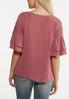 Ruffled Lace Sleeve Top alternate view