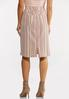 Blushing Stripe Denim Skirt alternate view