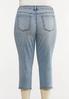 Plus Size Acid Wash Cropped Jeans alternate view