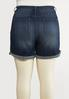 Plus Size Dark Wash Denim Shorts alternate view