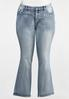 Plus Size Stone Embellished Jeans alternate view