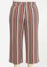Plus Size Cropped Rust Stripe Pants alternate view