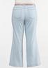 Plus Size Scarf Tie Jeans alternate view