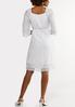 Plus Size White Square Neck Peasant Dress alternate view
