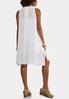 Plus Size White Gauze Shirt Dress alternate view