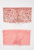 Plus Size Pink Floral Hipster Panty Set alternate view
