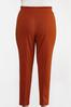 Plus Size Rust Tie Waist Pants alternate view