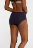 Plus Size High Waist Navy Panty Set alt view