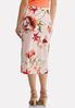 Plus Size Blush Floral Pencil Skirt alternate view