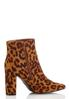 Leopard Pointy Toe Booties alternate view