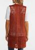 Plus Size Rust Open Stitch Sweater Vest alternate view