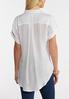 Plus Size White Crepe Button Front Shirt alternate view