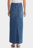 Plus Size Denim Back Pleat Maxi Skirt alternate view