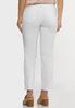 White Eyelet Hem Skinny Jeans alternate view